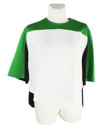 Комбинированная блуза свободного кроя Wesc 15536