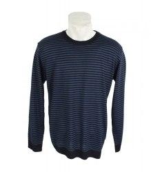 Темно-синий пуловер в полоску Blue Wear 3587