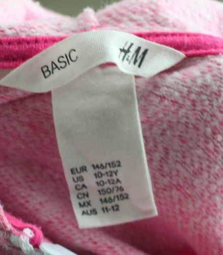 Розовая кенгурушка на замке H&M 15627