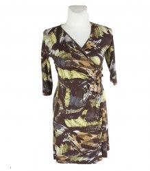 Трикотажное коричневое платье с запахом Marks&Spencer 15875