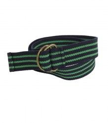 Текстильный детский ремень в сине зеленую полоску None 15900