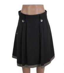 Черная юбка с коричневой каймой Alkis 16016