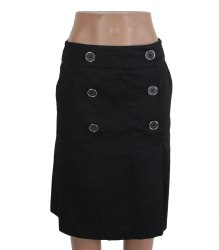 Черная хлопковая юбка Warehouse 16018