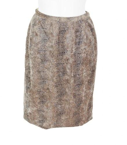 Велюровый комплект со змеиным принтом из жакета и юбки None 16125