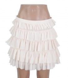 Персиковая шифоновая юбка из оборок Asos 16243