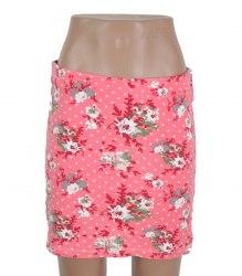 Розовая трикотажная юбка в цветочек Basic Equipment 16244