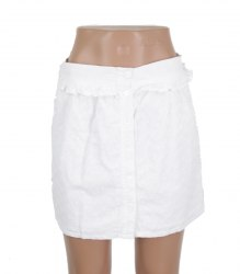 Белая короткая юбка из шитья Quirky Circus 16272