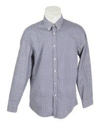 Сине-белая рубашка с длинным рукавом и цветочным принтом Next 16397