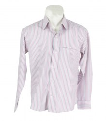 Приталенная рубашка в розово-зеленую полоску Justo. In 16587