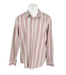 Коричневая рубашка в полоску с длинным рукавом Jeff Banks 16588