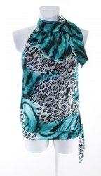 Шелковая блуза с леопардовым принтом none 3661