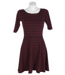 Трикотажное платье в полоску с коротким рукавом Atmosphere 16851