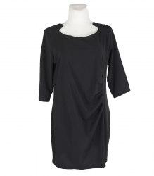 Черное платье с драпированным передом Liv collection 16911