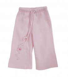 Розовые байковые штаники на малышку Youjoy 16961