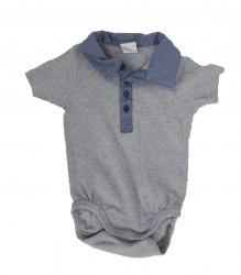 Серый трикотажный бодик на малыша H&M 17019