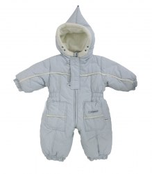 Голубой утепленный комбинезон на младенца Coccodrillo 17069