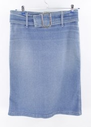 Джинсовая юбка с широким поясом Winetto 3749
