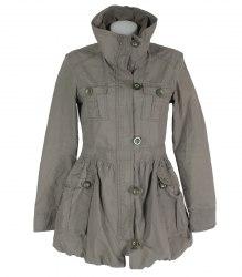 Удлиненная куртка-ветровка E-vie 17216