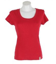 Красная футболка в рубчик Only 17217