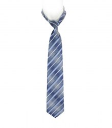 Сине-голубой галстук в полоску Milimetric Cravatte 17276
