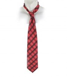Красный галстук в черную полоску Romendik 17278