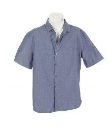 Джинсовая рубашка с коротким рукавом на мальчика Next 17362