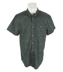 Зеленая джинсовая рубашка с коротким рукавом F&F 17363