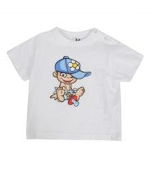 Белая футболка с малышом Roly 17418