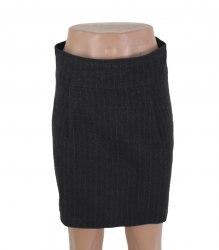 Темно-серая прямая юбка в полоску Naf Naf 17466
