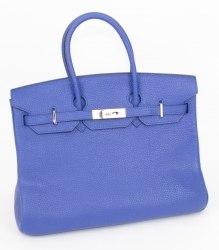 Синяя деловая сумка HERMES Hermes 3859