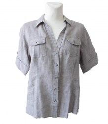 Серая льняная рубашка Olsen 18016