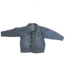 Джинсовый пиджак в полоску HEMA 18126