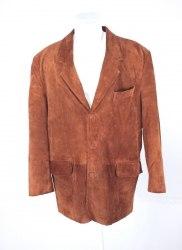 Коричневый замшевый пиджак-куртка None 4782