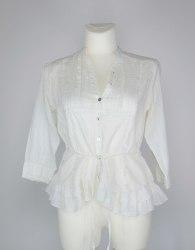 Молочная хлопковая блуза декорированная рюшами River Island 4783