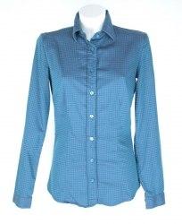 Сине-серая блуза рубашечного кроя Amy Gee 4842
