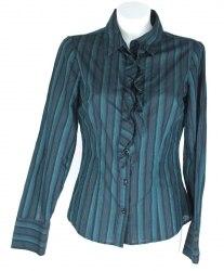 Блуза в полоску декорированная рюшами на планке VO 4843