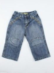 Светло-синие джинсы с желтой отстрочкой KDS jeans 4986