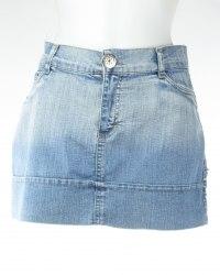 Короткая джинсовая юбка на манжете Piemsee 5016