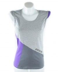 Серая футболка с фиолетовой вставкой FormaLab 5093