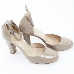 Лаковые туфли цвета кофе с молоком Ellenka 5146