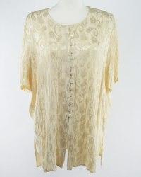 Нарядная желтая блуза из ткани жатка Ann Harvey 5202