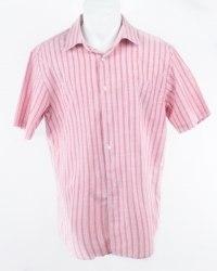 Красная рубашка в белую полоску c коротким рукавом Easy Easy 5687