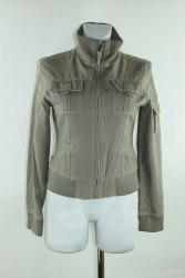 Серая хлопковая куртка на молнии Asos 598