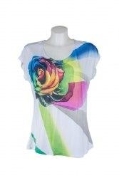 Белая футболка с розой Solar 6854