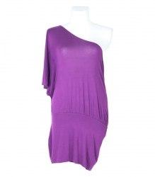 Трикотажное платье на одно плечо South 7063