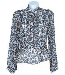 Блуза с длинным рукавом и леопардовым принтом Bonprix 7088