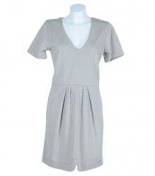 Комбинированное бежевое платье Extasy 7130