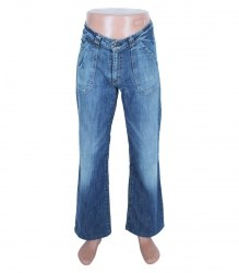 Синие джинсы прямого кроя H&M 7192