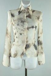Шелковая блуза из жатой ткани Arber 1143