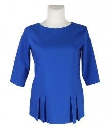 Синяя кофта с баской Monton 7950